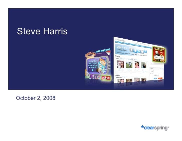 Steve Harris, Clearspring