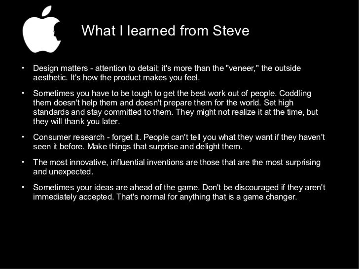 What I Learned From Steve