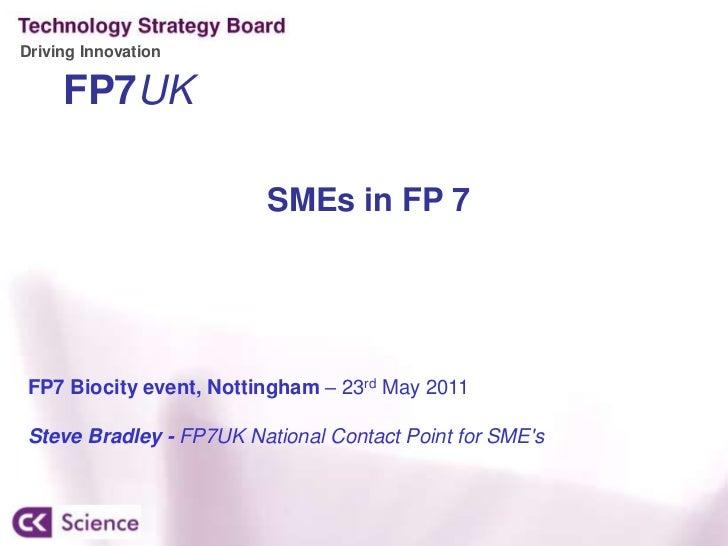 Steve Bradley - FP7 Beta Technology Presentation