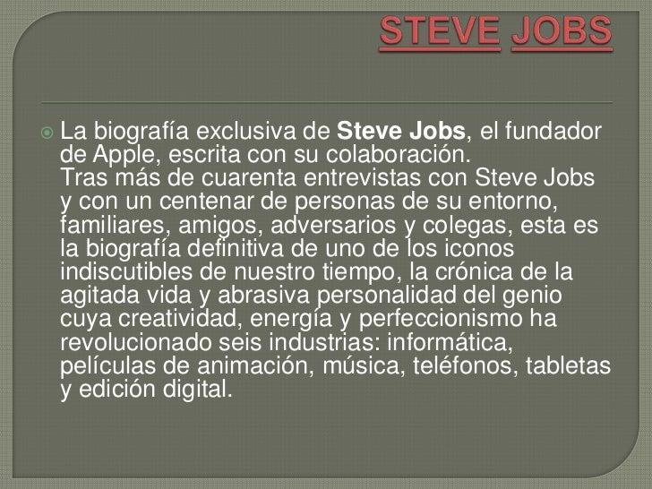    La biografía exclusiva de Steve Jobs, el fundador    de Apple, escrita con su colaboración.    Tras más de cuarenta en...