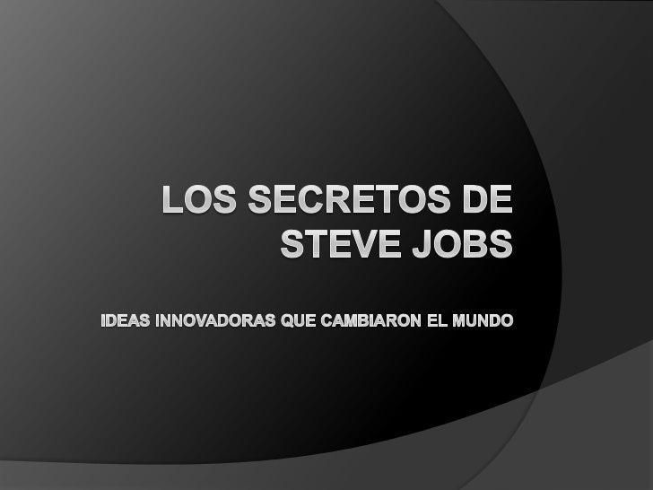 Diapositivas de Steve Jobs