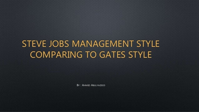steve jobs management style essays