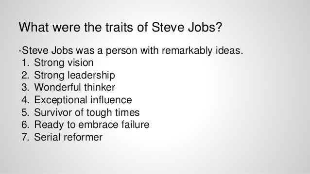personality analysis steve jobs Browse steve jobs news, research and analysis from the conversation  steve  jobs film does not shy away from showing the darker sides of his character.