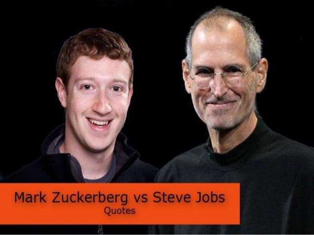 Steve Jobs vs Mark Zuckerberg