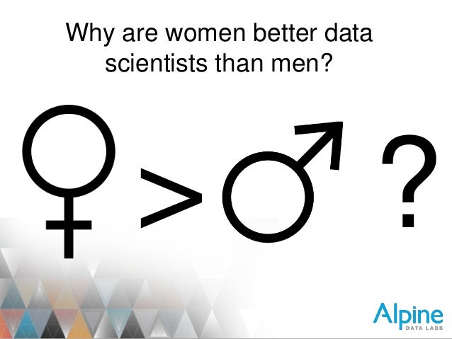 "Steven Hillion Presents, ""Why Women are Better Data Scientists."""