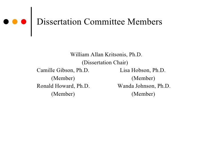 Change Dissertation Committe Chair Albany