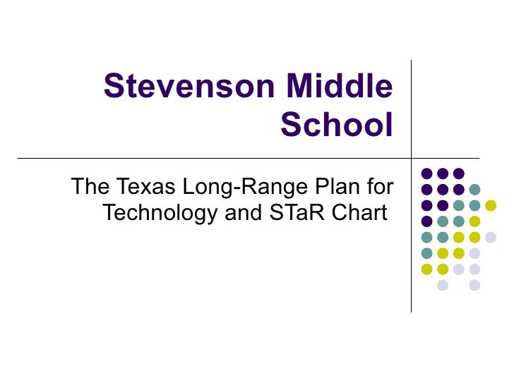 Stevenson Middle School The Texas Long-Range Plan for Technology and STaR Chart