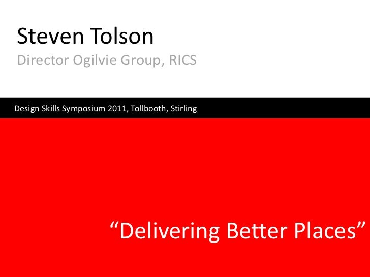 Steven Tolson - Investment Inputs: Citizens, Developers and the State