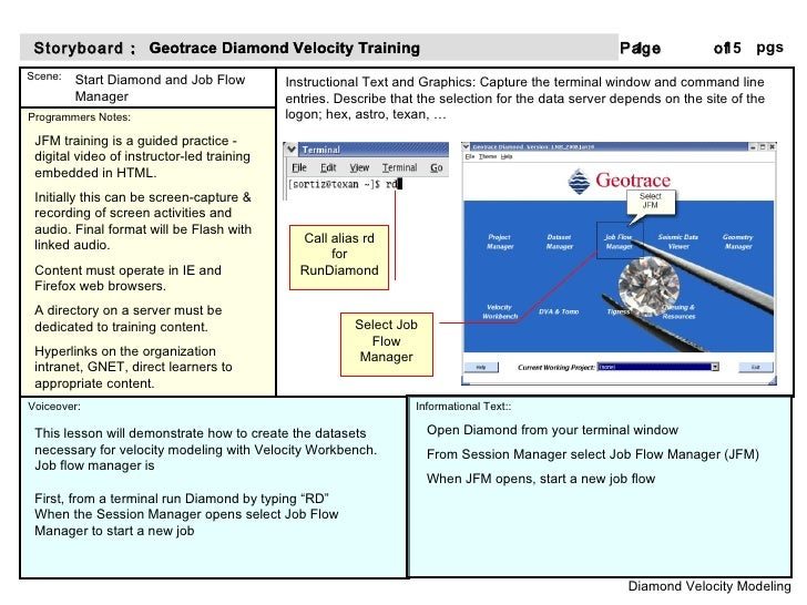Start Diamond and Job Flow Manager This lesson will demonstrate how to create the datasets necessary for velocity modeling...