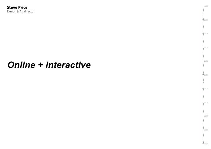 Steve Price Interactive Work