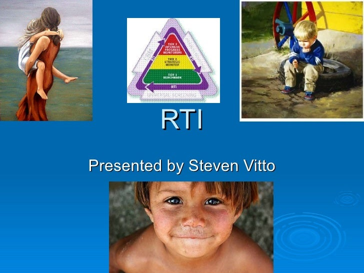 Steve Vitto Response to Intervention (RTI)