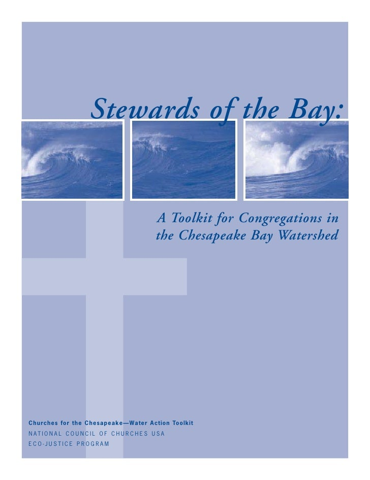 ✝                        Stewards of the Bay:                                                  A Toolkit for Congregations...