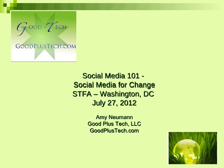 Social Media for Activism and Change