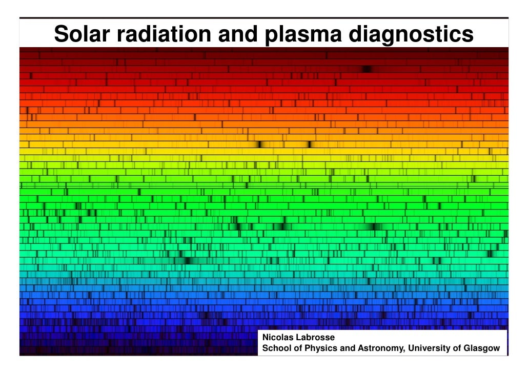 Solar radiation and plasma diagnostics                  Nicolas Labrosse                  School of Physics and Astronomy,...
