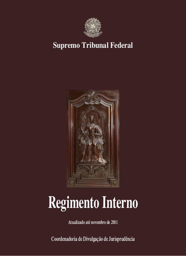 STF-Regimento interno,nov/2011.