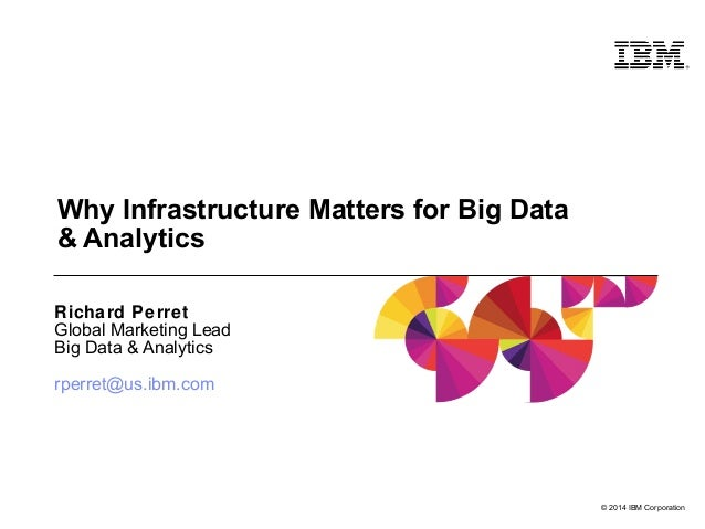 © 2014 IBM Corporation  Why Infrastructure Matters for Big Data  & Analytics  Richard Perret  Global Marketing Lead  Big D...