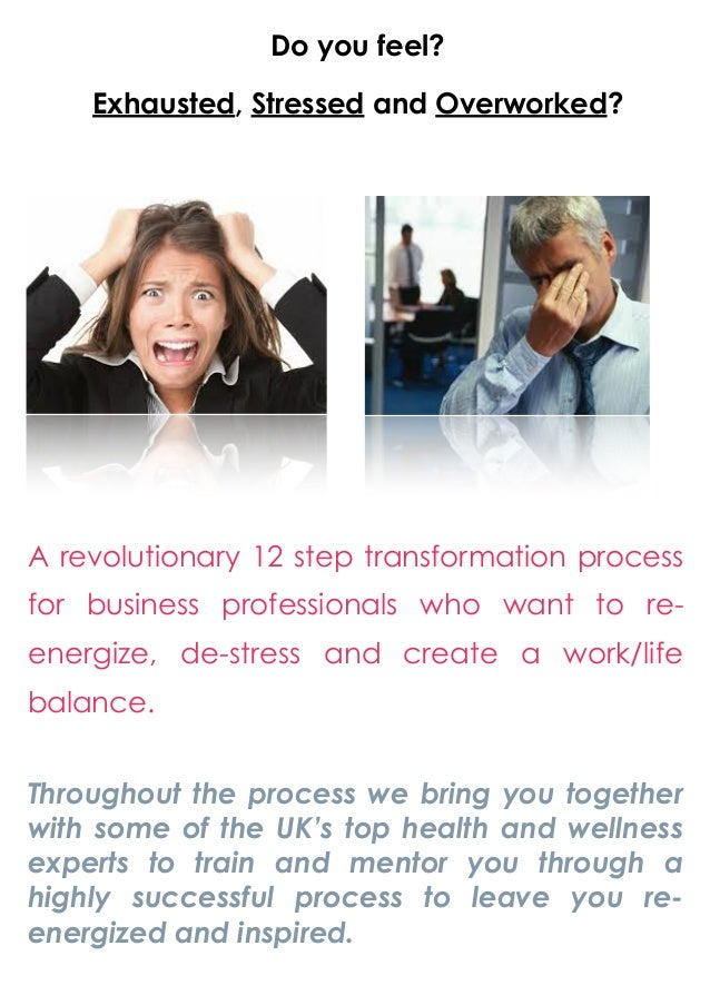 Solutions for stressed, exhausted and overworked business executives!!