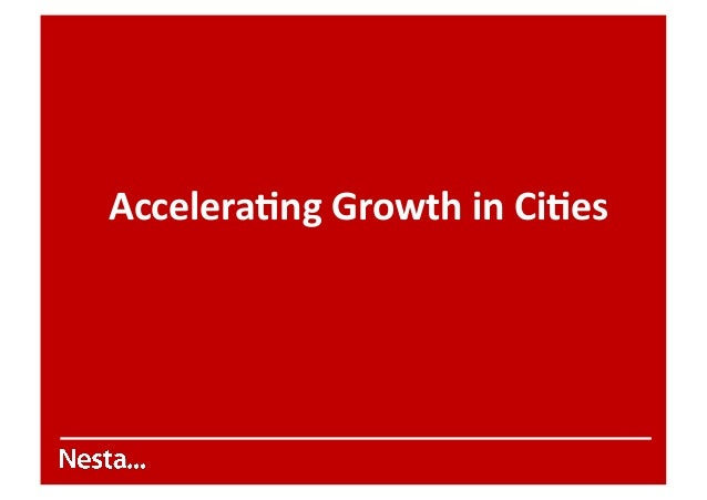 Stian Westlake Innovation In Growing Cities