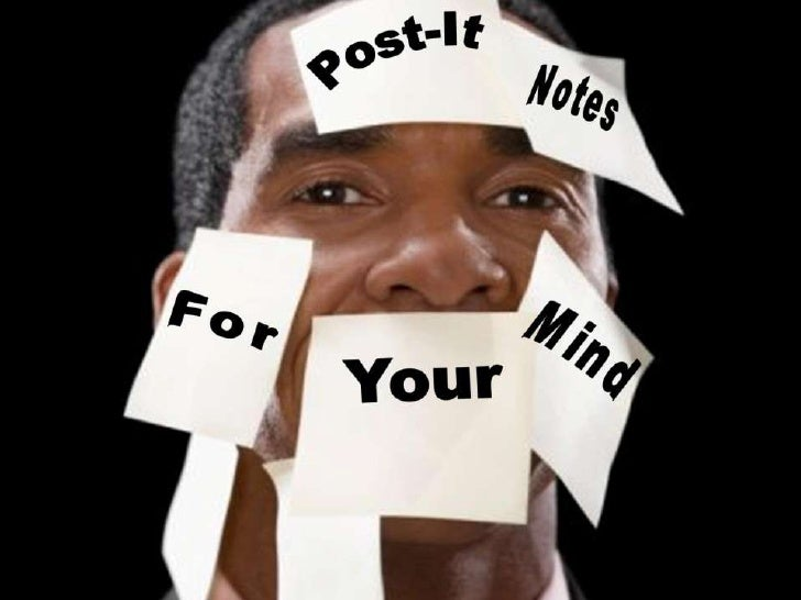 Post-It Notes For Your Mind