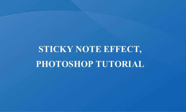 How to Make a Sticky Note in Photoshop CS6 - YouTube