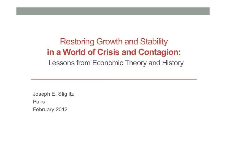 Stiglitz Lesson's