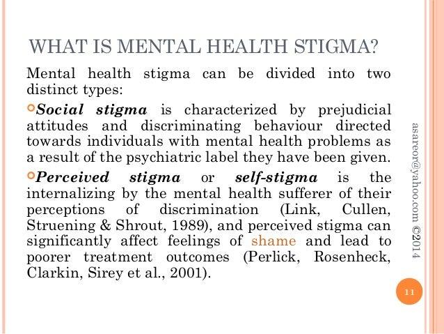 essay on mental illness stigma