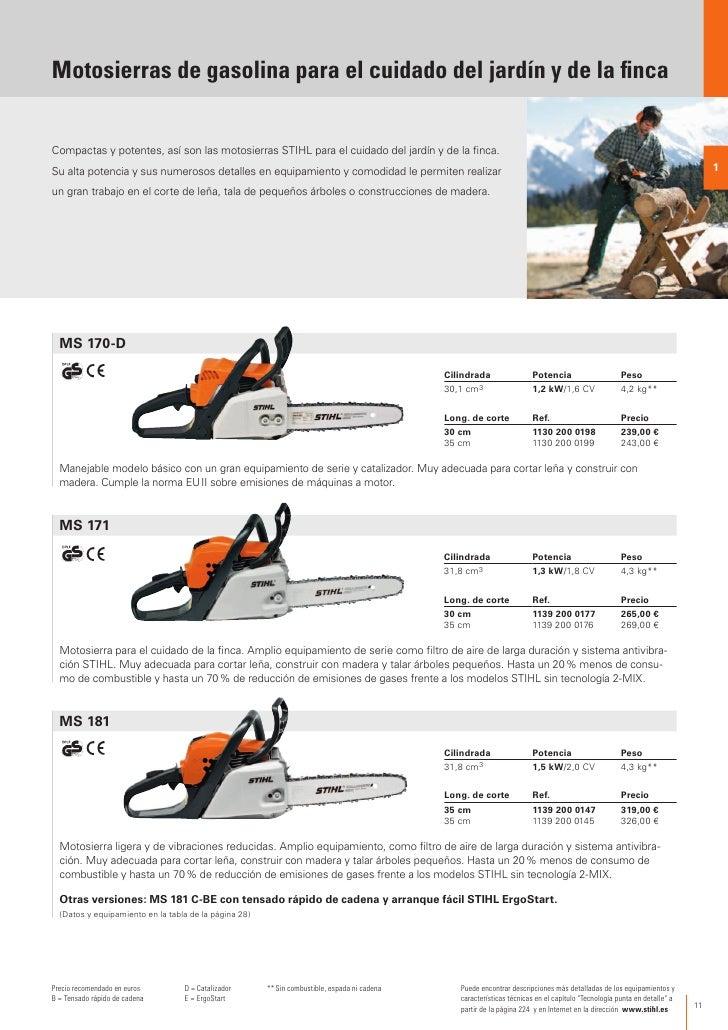 Stihl catalogo 2012 es - Precio de motosierras ...