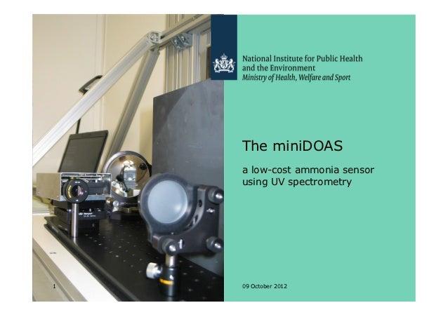 The miniDOAS    a low-cost ammonia sensor    using UV spectrometry1   09 October 2012