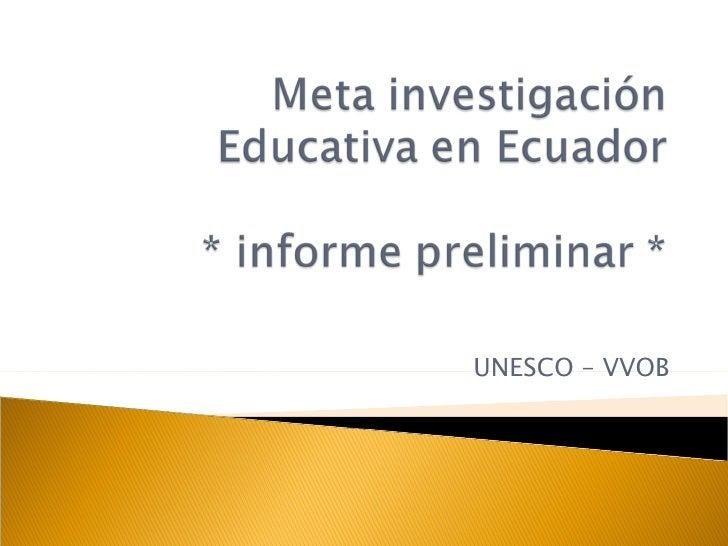 UNESCO – VVOB