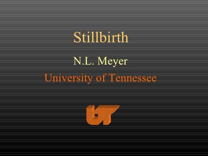 Stillbirth N.L. Meyer University of Tennessee
