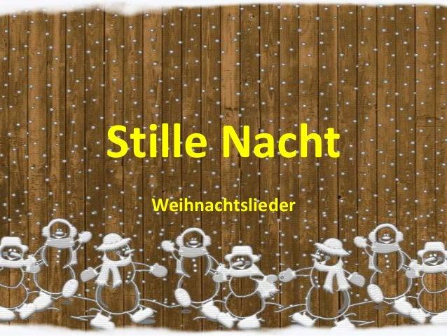 Stille Nacht Weihnachtslieder