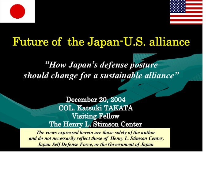 "Future of the Japan-U.S. alliance       ""How Japan's defense posture  should change for a sustainable alliance""           ..."