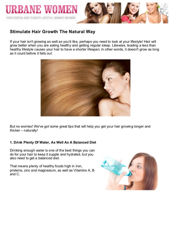 Stimulate Hair Growth Naturally Pinterest