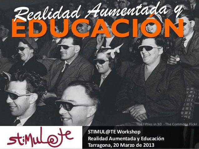 Stimul@te Realidad Aumentada y Educación