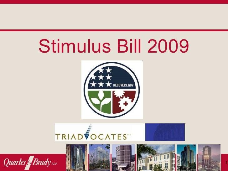 Stimulus Bill 2009                          1