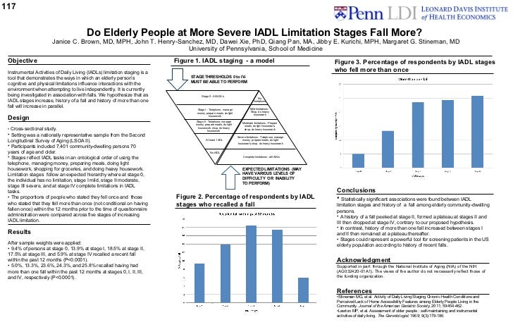 Do Elderly People at More Severe IADL Limitation Stages Fall More 11_1_11
