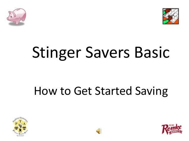 Stingers savers   basic & advanced