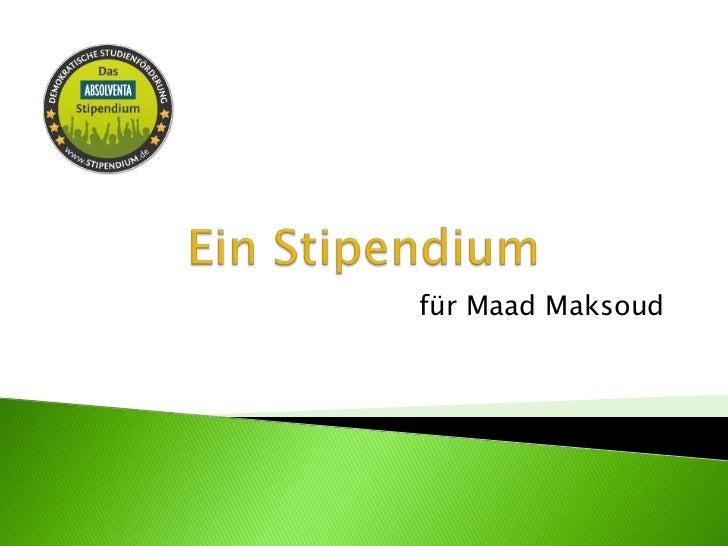 für Maad Maksoud