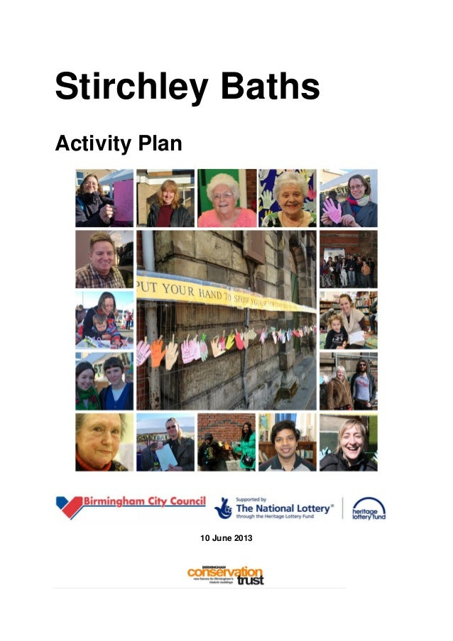 Stirchley baths activity plan final