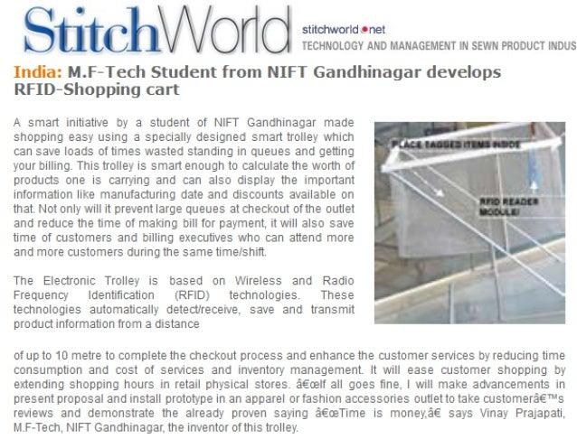 Stitch World - RFID Shopping Cart