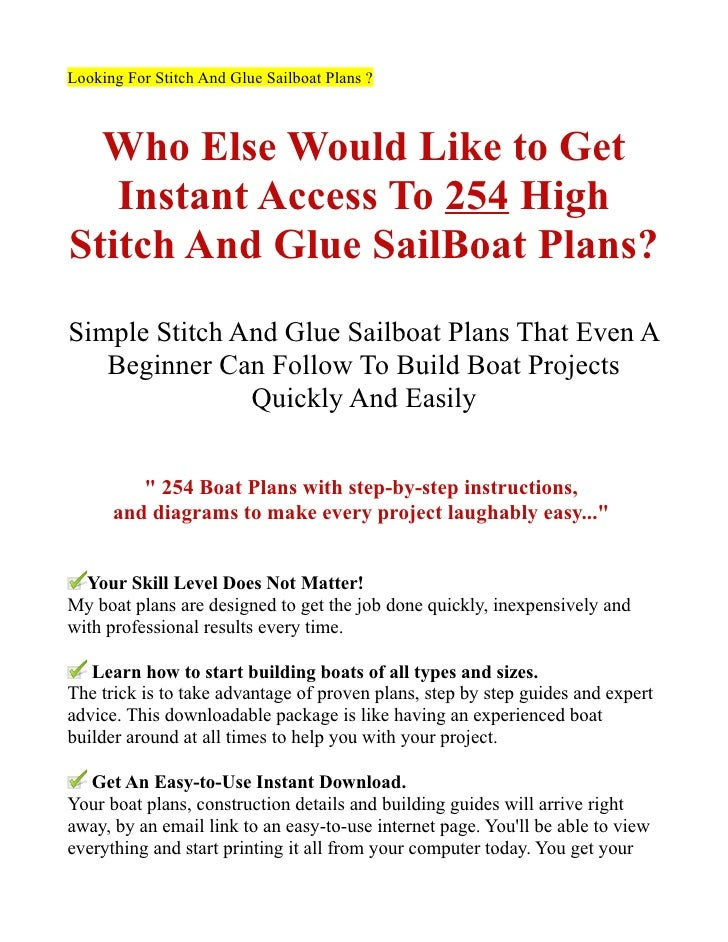 Sea Lovers: Free stitch and glue power boat plans