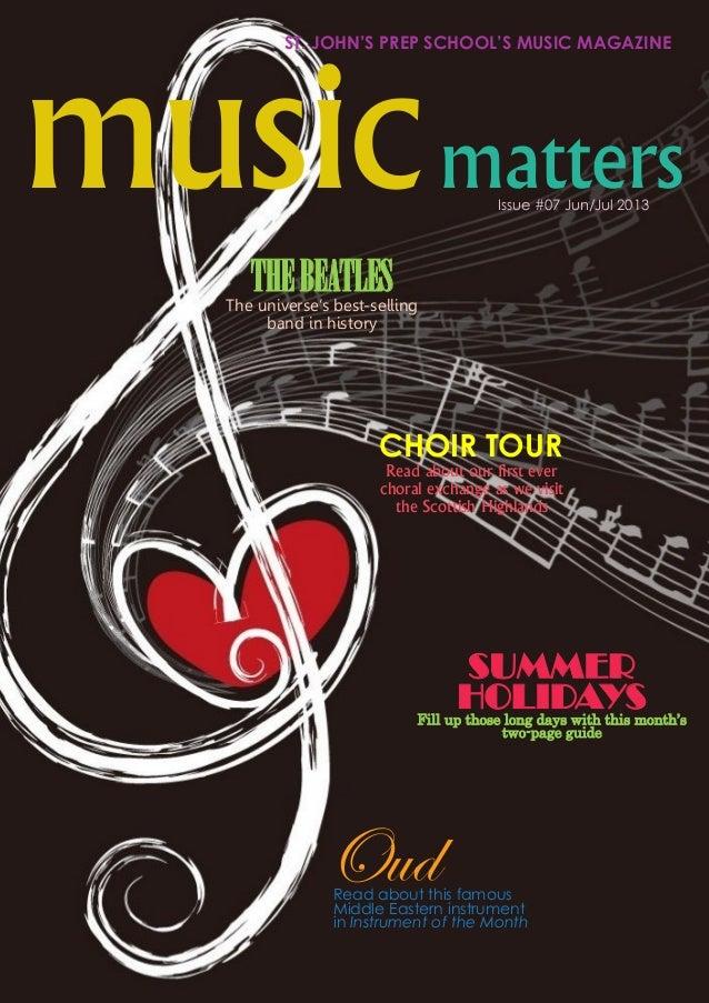 St johns prep and senior school music matters july 2013