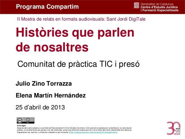 Històries que parlen de nosaltres. Sant Jordi DigiTale. Julio Zino, Elena Martín