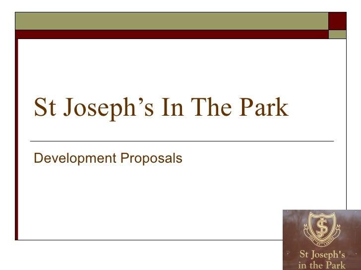 St Joseph's In The Park Development Proposals