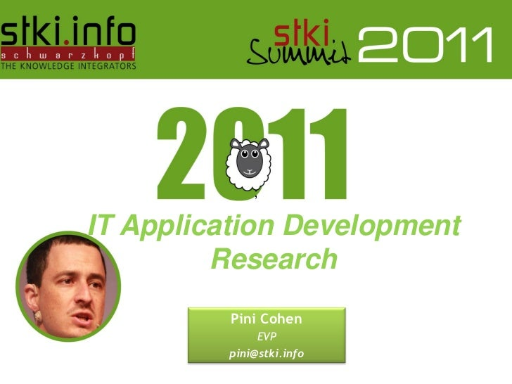 ;IT Application Development         Research                                    Pini Cohen                                ...