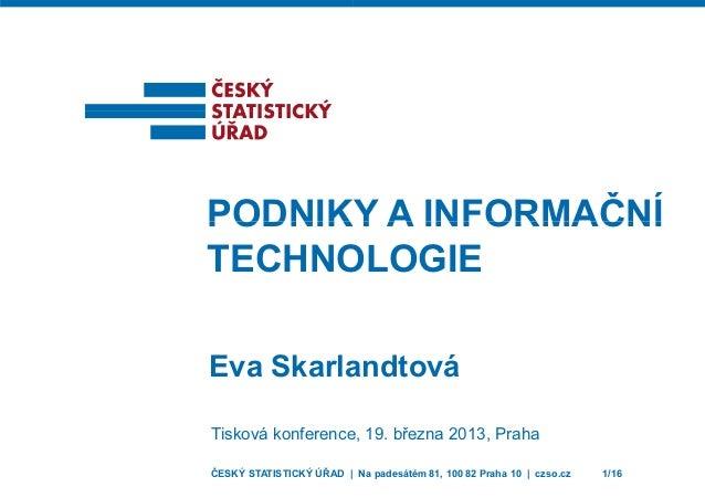 Podniky a informační technologie (2013)