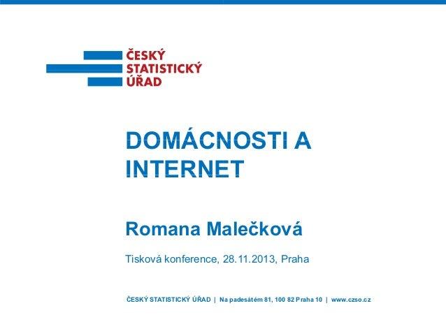 Domácnosti a internet (2013)