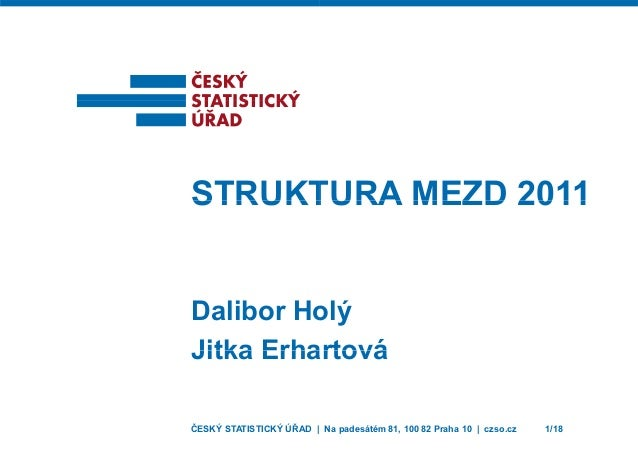 STRUKTSTRUKT Dalibor Ho Jitka ErhaJitka Erha ČESKÝ STATISTICKÝ ÚŘAD | TURA MEZD 2011TURA MEZD 2011 ýolý artováartová Na pa...