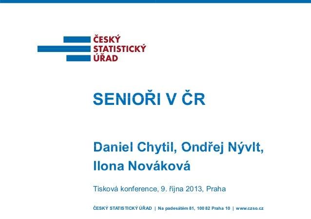Senioři v ČR (2013)