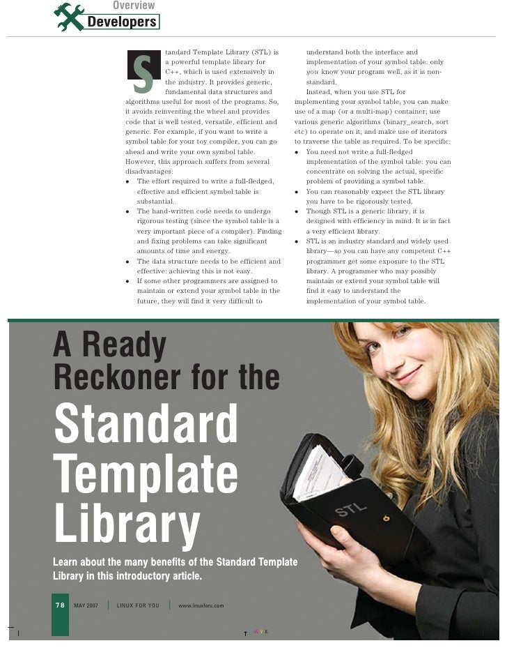Overview                     Overview                                      tandard Template Library (STL) is           und...